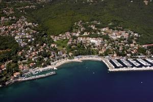 Icici bei Opatija - Luftbild